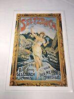 "Seltzbach Mineral Water Poster Print Reproduction Art Nouveau 17""x 12"""