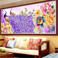DIY 5D Diamond Embroidery Flower Peacock Painting Cross Stitch  Home Decor