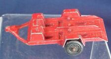 Vintage Tootsietoy Metal Motorcycle Trailer Red Paint