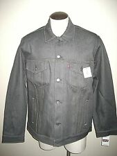 Levis Mens Button Up Denim Trucker Jean jacket Rigid Grey Size 2XL Classic NR