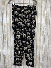 Boutique Black White Tiger Print Flow Wrap Pants S Small Anthropologie Boho Like