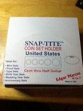 Snaptite Mint Set Holders; 5 Hole: Cent - Half Dollar; Made in USA; Full Box(25)