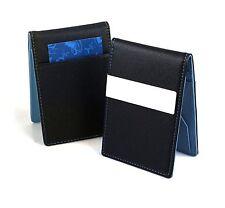 Mens Women Money Clip PU Leather Wallet Ultra Slim Credit Card Holder Purse Blue