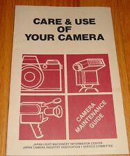 Vintage Camera Maintenance Guide Manual 1981