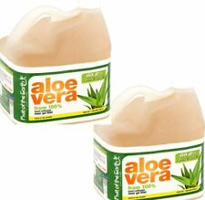 Gallon Organic Aloe Vera 100% Hand Cultivated Inner Fillet 99.8% Pack of 2