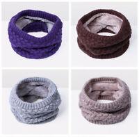 Unisex Men Women Winter Warm Neckerchief Thicken Woolen Knit Neckwarmer Scarves