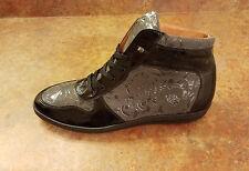 New! Mezlan 'Andorra' High Top Sneakers Leather Black Gray Mens 13 M MSRP $325