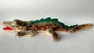 "Vintage German Toy Steiff Mohair alligator crocodile Gaty 14"""