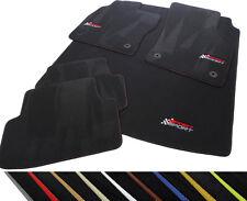 Fußmatten und Kofferraummatte Seat Leon III ST Kombi ab Bj 2012 Logo Gestickt
