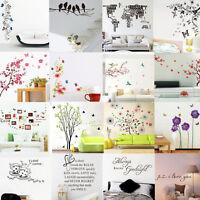 Divers Amovible Sticker Mural Autocollant Fleur Décor Mur Muraux Chambre Salon