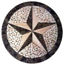 Floor Marble Round Medallion Travertine Texas Star Tile Mosaic 36 inches