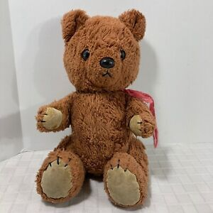 Dakin 1981 Brown Teddy Bear Jointed Stuffed Animal Plush Well Loved