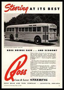 1949 White Motor Co. Model 798 Bus Capital Transit Washington DC Photo Print Ad