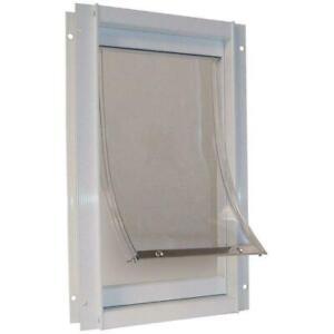 Extra Large Deluxe Aluminum Frame Pet Door Magnetic Flap Dog Cat 10.5 In X 15 In