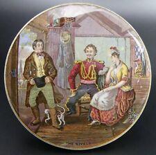 More details for victorian  coloured pratt ware pot lid 'the rivals' c.1870