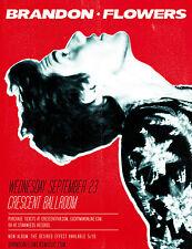 BRANDON FLOWERS 2015 PHOENIX CONCERT TOUR POSTER-New Wave Revival Music, Killers