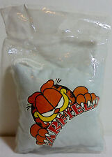 Garfield Vtg 80's 4' White Soft Pillow w/ Cord Unused In Cellophane