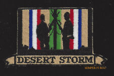 DESERT STORM VETERAN HAT PATCH US ARMY MARINES NAVY AIR FORCE MILITARY PIN UP 1