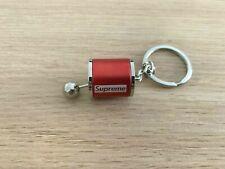 Red 'Superme' Metal Gear Keychain Keyring Key Chain Ring for Car keys
