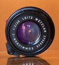 [Mint] LEICA SUMMICRON-C 40mm f/2 Lens (M-Mount)