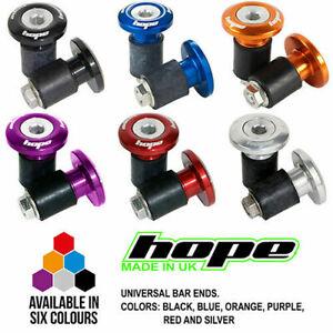 Hope Grip Doctor Bike/Cycling/Cycle Handlebar Bar End Plugs Purple Red Blue Blac