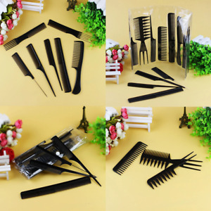 10 piece Hair Styling Comb Set Professional Hairdressing Brush Barbers Grooming