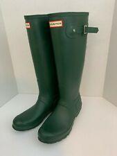 Hunter Women's Original Tall Rain Boots - Green rubber size 9 women knee high