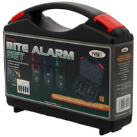 3 VS Wireless Carp Fishing Bite Alarm & Receiver Set NGT Tackle b0xed