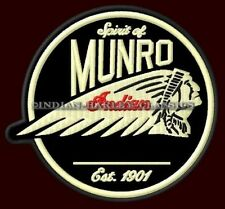 "INDIAN MOTORCYCLE EMBROIDERED PATCH~4"" SPIRIT OF MUNRO CHIEF SCOUT ROADMASTER V2"