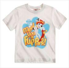 T-shirts, débardeurs et chemises blanches à manches longues pour garçon de 2 à 16 ans en 100% coton