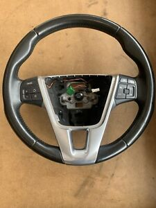 2011-2018 Volvo S60 3 Spoke Multifunction Steering Wheel Black Leather 34110217