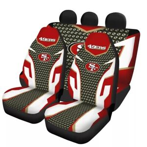 San Francisco 49ers 5 Seat Car Seat Cover Universal Truck Cushion Protector Gift