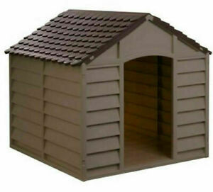 Indoor - Outdoor Mocha Winter Shelter Strong Plastic Dog Doggy Kennel - Small