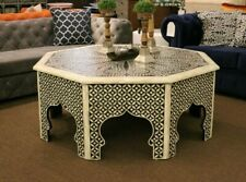 Moroccan/Syrian Coffee table, Cocktail Table with bone inlay. Custom and unique