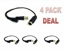 4 Pack CCTV Security Camera DIN to BNC Cable Converter Adapter DVR