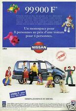 Publicité advertising 1995 Nissan Serena monospace