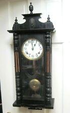 Vintage 1910-20 Seikosha Royal Wall Regult0R Clock- Ebonized