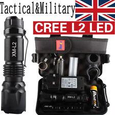 10000LM X800 Shadowhawk Tactical*Military  CREE L2 LED Flashlight Torch Gift Kit