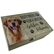 Golden Retriever Dog Treats Food Toy Storage Container Holder Biscuits Barrel