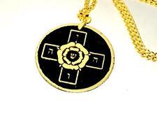 ROSICRUCIAN ROSE CROSS TALISMAN SOLID BRASS Occult Amulet Magick Freemasons