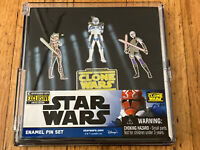Star Wars: The Clone Wars Enamel Pin Set Entertainment Earth Exclusive In Hand