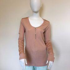 Weekday Damas Verano Cremallera Frontal Color Beige Crema Elástico Body Con Top Uk Size 12
