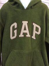 Gap Kids Boys Green Fleece Hoodie Pullover Front Pocket Small 6-7 EUC Warm!