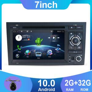 "7"" Autoradio GPS Navi Android 10 Pour Audi A4 B6 B7 S4 RS4 SEAT 2003-2011 BT DAB"