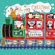 Santas festlichen Zug Weihnachten Adventskalender Karte - 158mm x 158mm - 24 Türen