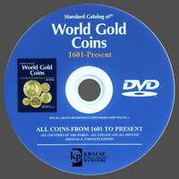 CATALOG WORLD GOLD COINS FROM 1601 TO PRESENT - NEW ORIGINAL DVD KRAUSE
