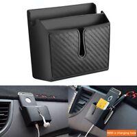 Schwarz Fahrzeug Organizer Handyhalter Innenzubehör Auto-Aufbewahrungsbox