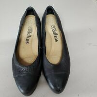 Women's Cobbie Cuddlers Black Leather Slip on Comfort Shoes Size 7