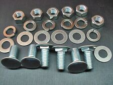 Mopar 6 bumper bolts nuts lock flat washers stainless capped bolt 3/8-16 x 1""