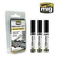Ammo by Mig Bare Metals Oilbrusher Set # 7508